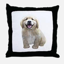 Golden Retriever Puppy Throw Pillow
