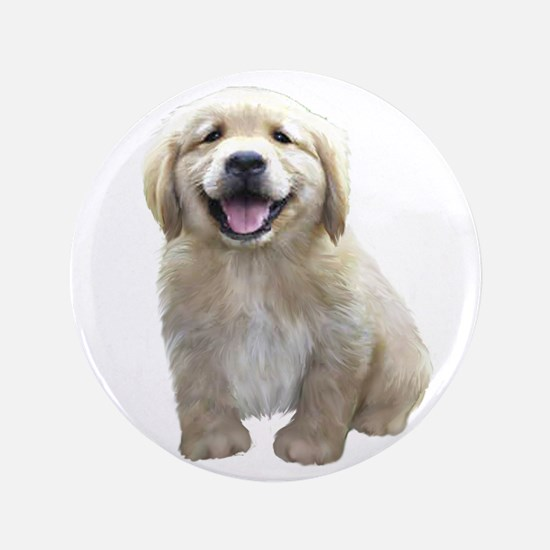 "Golden Retriever Puppy 3.5"" Button"