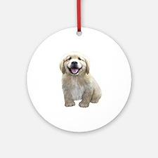 Golden Retriever Puppy Ornament (Round)