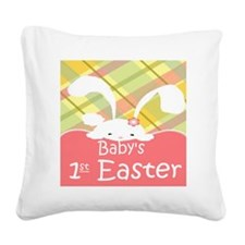 Baby's 1st Easter Square Canvas Pillow