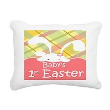 Baby's 1st Easter Rectangular Canvas Pillow