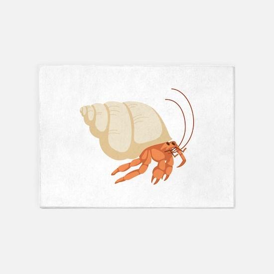 Hermit Crab 5 X7 Area Rug