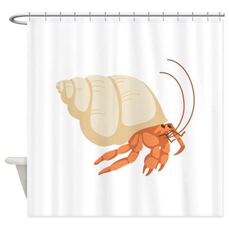 Hermit Crab Shower Curtain