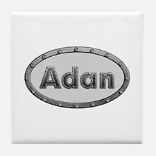 Adan Metal Oval Tile Coaster