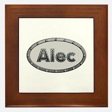 Alec Metal Oval Framed Tile