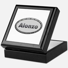 Alonzo Metal Oval Keepsake Box