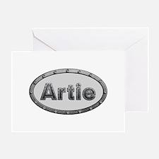 Artie Metal Oval Greeting Card