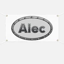 Alec Metal Oval Banner