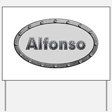 Alfonso Metal Oval Yard Sign