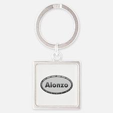 Alonzo Metal Oval Square Keychain