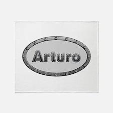 Arturo Metal Oval Throw Blanket