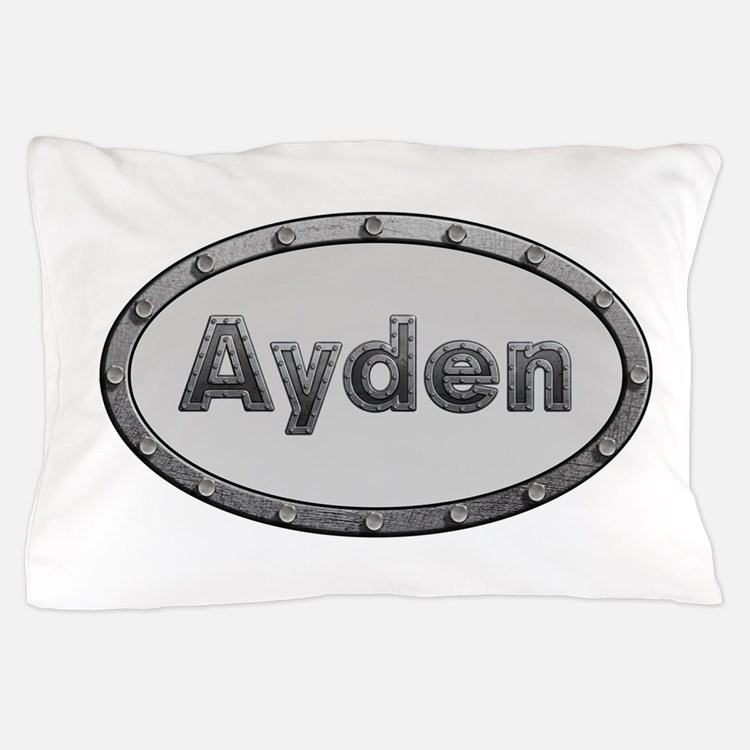 Ayden Metal Oval Pillow Case