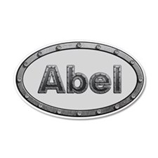 Abel Metal Oval Wall Decal
