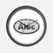 Alec Metal Oval Wall Clock