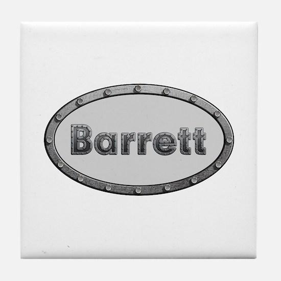 Barrett Metal Oval Tile Coaster