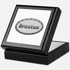 Braxton Metal Oval Keepsake Box