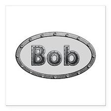 Bob Metal Oval Square Car Magnet