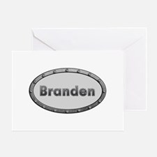 Branden Metal Oval Greeting Card