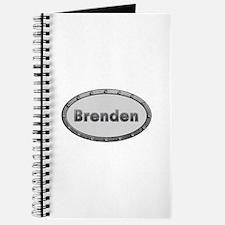 Brenden Metal Oval Journal