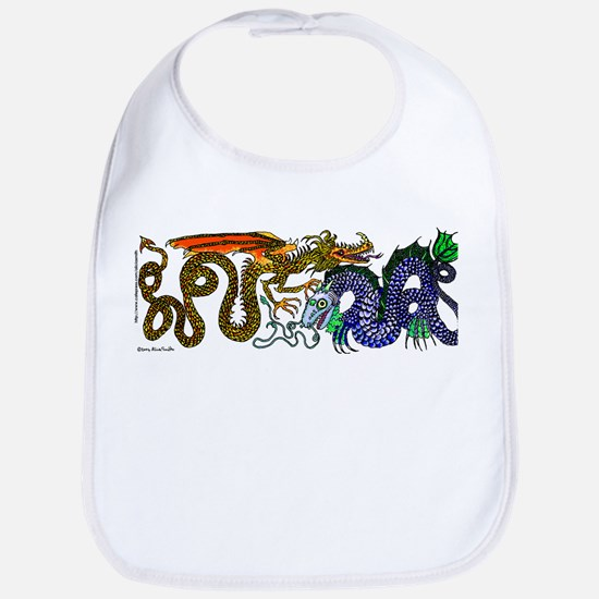 Fire Drake and Sea Serpent Bib