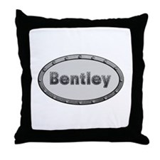 Bentley Metal Oval Throw Pillow