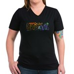 Fire Drake and Sea Serpent Women's V-Neck Dark T-S