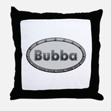 Bubba Metal Oval Throw Pillow