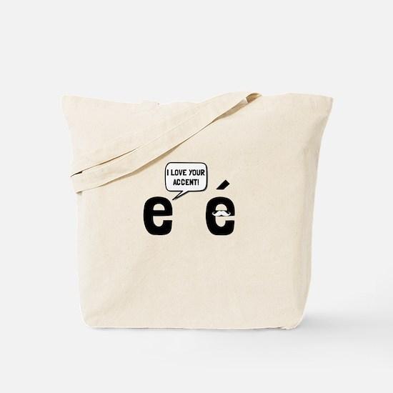 Love Accent Tote Bag