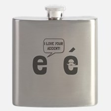 Love Accent Flask