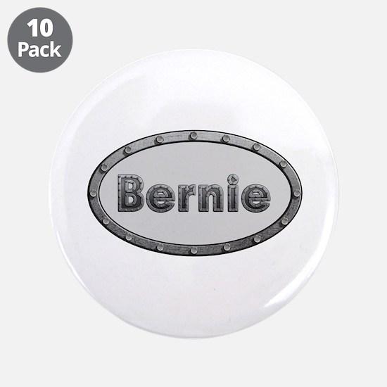 Bernie Metal Oval Big Button 10 Pack