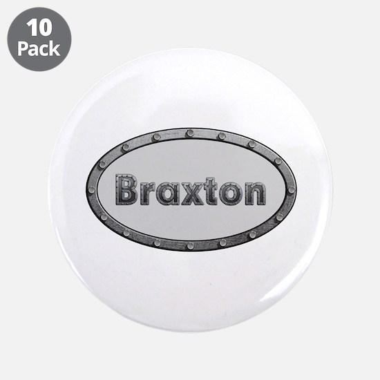 Braxton Metal Oval Big Button 10 Pack