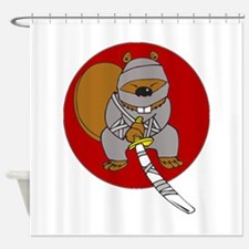 Ninja Beaver Shower Curtain