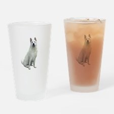 White Akita Drinking Glass