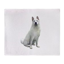 White Akita Throw Blanket
