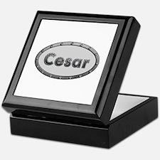 Cesar Metal Oval Keepsake Box