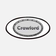 Crawford Metal Oval Patch