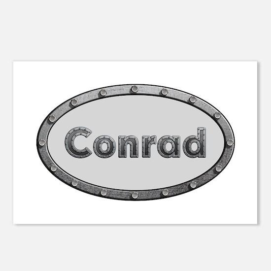 Conrad Metal Oval Postcards 8 Pack
