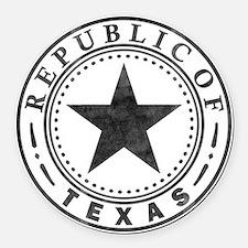 Republic of Texas Round Car Magnet