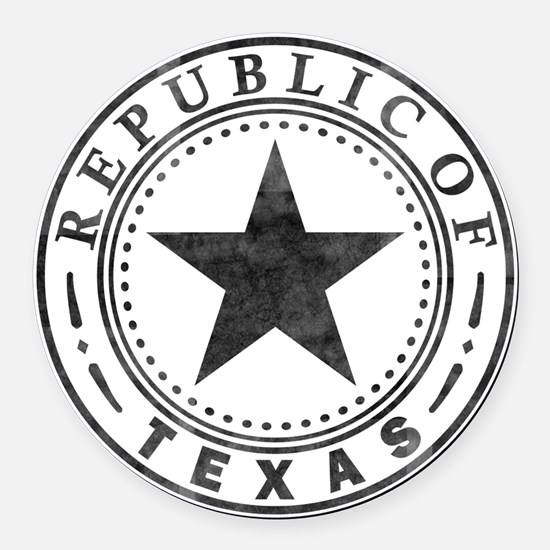 Republic of Texas Round Car Magnet