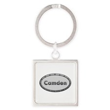 Camden Metal Oval Square Keychain