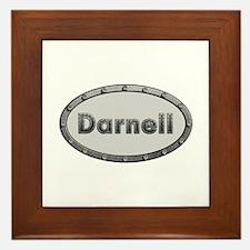 Darnell Metal Oval Framed Tile