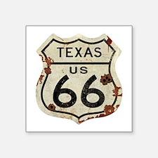 """Texas Route 66 - Square Sticker 3"""" x 3"""""""