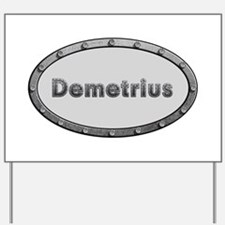 Demetrius Metal Oval Yard Sign