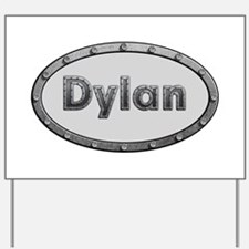 Dylan Metal Oval Yard Sign