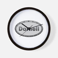 Darnell Metal Oval Wall Clock
