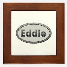 Eddie Metal Oval Framed Tile
