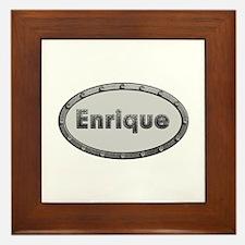 Enrique Metal Oval Framed Tile