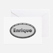 Enrique Metal Oval Greeting Card