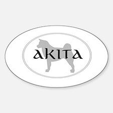 Akita Oval Decal