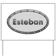 Esteban Metal Oval Yard Sign